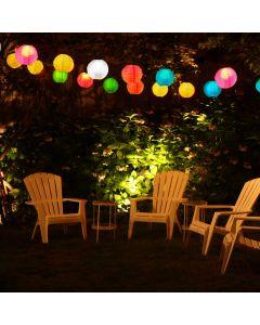 Zestaw 3x Lampa ogrodowa LED solarna LAMPION KULA wisząca 20 cm Polux