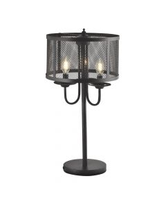 Lampa stołowa stojąca ozdobna Soho 3xE14 POLUX czarna