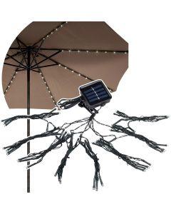 GIRLANDA SOLARNA ogrodowa ozdobna Lampki pod parasol 3,8m 6500K Polux