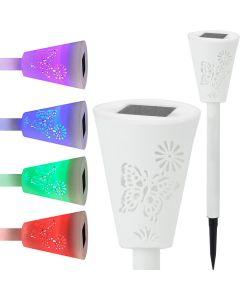 Lampa ogrodowa LED solarna PIANO LED wbijana RGB Polux
