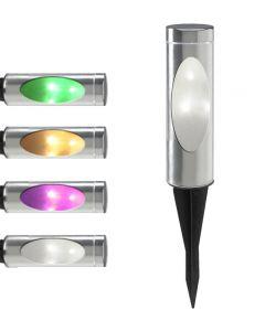Lampa ogrodowa LED solarna TOGO M 35cm wbijana RGB Polux