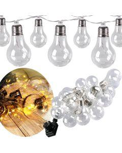 Girlanda ogrodowa Łańcuch Świetlny 20 LED 2700K Zasilacz 220-240V 5,3m