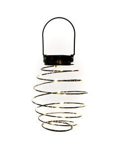Lampa LATARENKA ogrodowa LED solarna czarna wisząca 20x dioda SMD Twister Polux