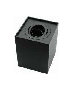 Oprawa Natynkowa kwadrat RUCHOMA GU10 SPOT MAGNUS TUBA 125MM Czarna