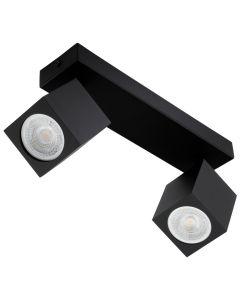 Lampa Sufitowa Ścienna Reflektor 2xGU10 QUANTUS Czarna