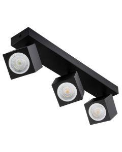 Lampa Sufitowa Ścienna Reflektor 3xGU10 QUANTUS Czarna