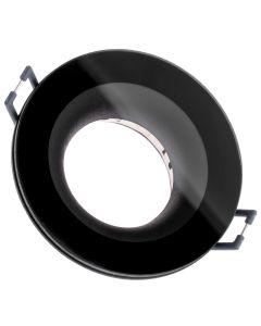 Oprawa HALOGENOWA AQUA Podtynkowa Stała Okrągła Czarna GU10 IP44