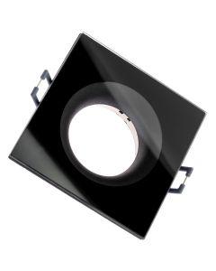 Oprawa HALOGENOWA AQUA Podtynkowa Stała Kwadrat Czarna GU10 IP44