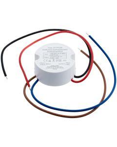 Zasilacz LED do puszki 10W  fi 60  0.83A 12V DC IP20