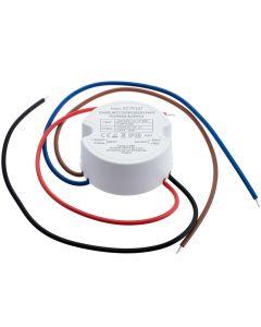 Zasilacz LED do puszki 20W  fi 60  1.67A 12V DC IP20