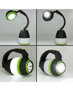 Lampka biwakowa biurkowa Szperacz LED TWIST 1W 6700K 3xAA KOBI