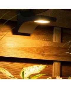 Kinkiet Ogrodowy LED Lampa Elewacyjna Zewnętrzna IP54 5W WW 3000K ORTAL Czarna