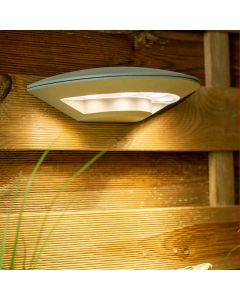 Kinkiet Ogrodowy LED Lampa Elewacyjna Zewnętrzna IP54 4x4W 4000K SZARY