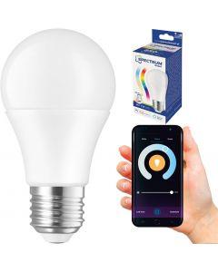 Żarówka LED E27 9W = 62W 850lm RGB+CCT SPECTRUM Smart WiFi Ściemnialna