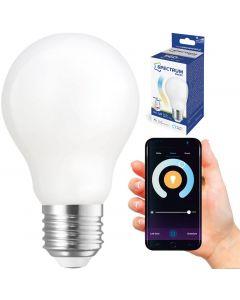 Żarówka LED FILAMENT E27 5W = 45W 560lm CCT SPECTRUM Smart TUYA WiFi Ściemnialna Milky