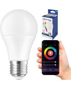Żarówka LED E27 13W = 98W 1500lm RGB+CCT SPECTRUM Smart WiFi Ściemnialna