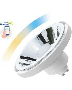 Żarówka LED AR111 GU10 10W 1050lm CCT Biała SPECTRUM Smart TUYA WiFi Ściemnialna