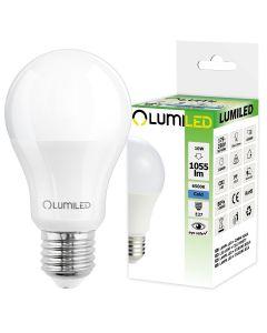 Żarówka LED E27 10W = 95W 1055lm 6500K Zimna 260° LUMILED