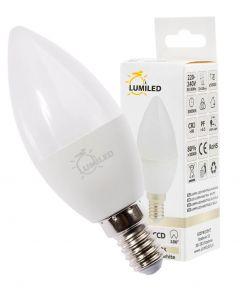 Żarówka LED ŚWIECZKA E14 7W = 65W 650lm Neutralna 4000K 180° LUMILED