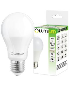 Żarówka LED E27 A60 13W = 135W 1521lm 4000K Neutralna 260° LUMILED