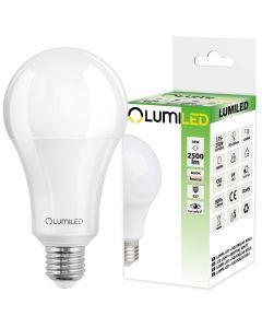 Żarówka LED E27 A65 18W = 180W 2500lm 4000K Neutralna 260° LUMILED
