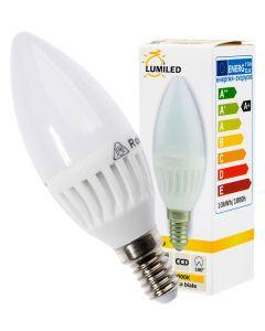 Żarówka LED ŚWIECZKA E14 10W = 90W 990lm Ciepła 3000K 180° LUMILED