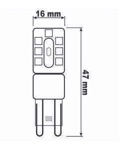 Żarówka LED G9 KAPSUŁKA 3W = 30W 300lm 4000K Neutralna 360° LUMILED Niewidzialna