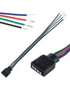 Złączka taśmy LED RGB 4PIN z przewodem gniazd