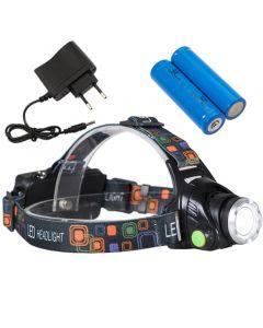 Latarka czołowa LED Cree XM-L T6 akumulatorowa LB0107 LIBOX