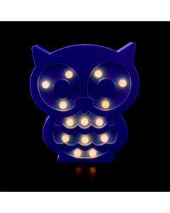 Lampka nocna dziecięca dekoracyjna Sowa na baterie 2x AA 1,5V 14x LED MILAGRO EKD6240