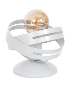 Lampa stołowa nowoczesna biała CORONA 1x E27 MiLAGRO