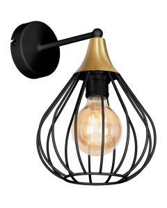 Kinkiet lampa ścienna czarna MiLAGRO KANE 1x E27