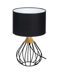 Lampa stołowa czarna MiLAGRO KANE 1x E27