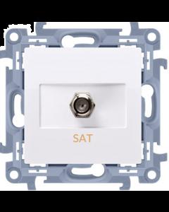 Gniazdo antenowe typu F telewizyjne SIMON 10 BIAŁE CASF1.01/11