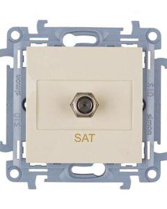 Gniazdo antenowe typu F telewizyjne SIMON 10 KREMOWE CASF1.01/41