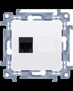 Gniazdo komputerowe internetowe RJ45 SIMON 10 BIAŁE X1 C51.01/11