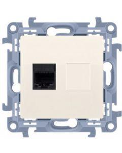Gniazdo komputerowe internetowe RJ45 SIMON 10 KREMOWE X1 C51.01/41