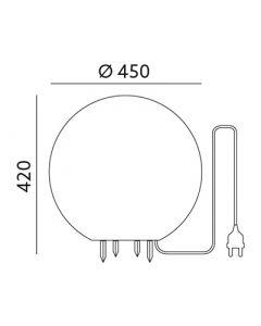 Kula ogrodowa LAMPA do ogrodu E27 GARDEN BALL XL Kobi 45cm