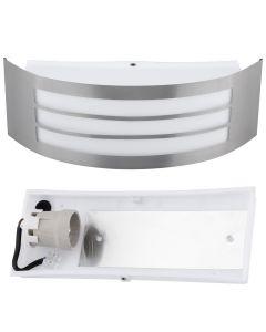 Kinkiet Ogrodowy Elewacyjny Lampa Zewnętrzna E27 INOX IP44 DORIS
