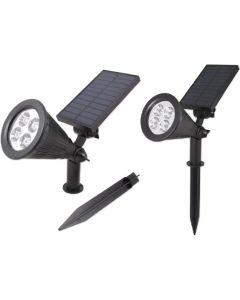 Reflektor LED solarny wbijany 2W 5500-6000K Zimna IP65 czujnik zmierzchu Masterled