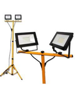 Naświetlacz LED Przenośna Lampa Robocza STATYW 1,8M 2x50W 5500K IP65