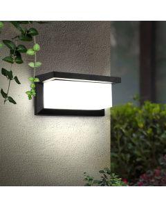 Kinkiet Ogrodowy Elewacyjny Lampa Ścienna E27 CETUS CZARNA Prostokątna