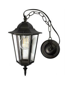 Lampa Ogrodowa Wisząca Zewnętrzna E27 LATARNIA Czarna
