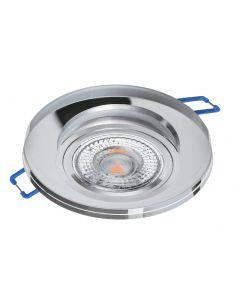 Oprawa Halogenowa SZKLANA Sufitowa LED GU10 MR16 Stała Okrągła Przeźroczysta
