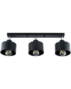 Lampa sufitowa TRAGULA czarna SPOT oprawa do LED 3x E27 LUMILED