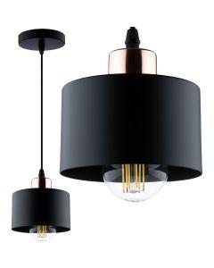 Lampa wisząca TRAGULA żyrandol ZWIS loft różowe-złoto czarna do LED 1xE27 LUMILED