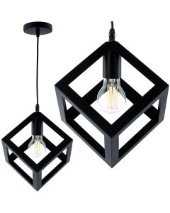 Lampa wisząca TALUS geometryczna kwadrat ZWIS do LED 1x E27 LUMILED