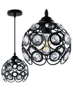 Lampa wisząca CRYSTAL ZWIS druciana DIAMENT do LED 1xE27 LUMILED