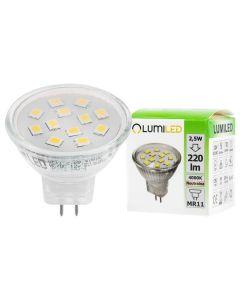 Żarówka LED GU5,3 MR11 2,5W = 25W 220lm 4000K 12v Neutralna 120° LUMILED