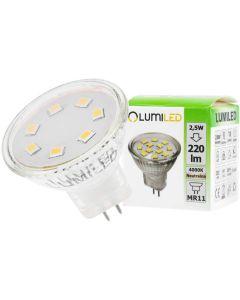 Żarówka LED GU5,3 MR11 2,5W = 25W 220lm 4000K 230v Neutralna 120° LUMILED